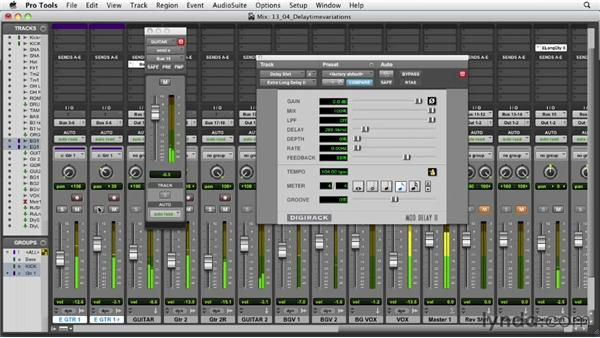 Using delay timing variations: Audio Mixing Bootcamp