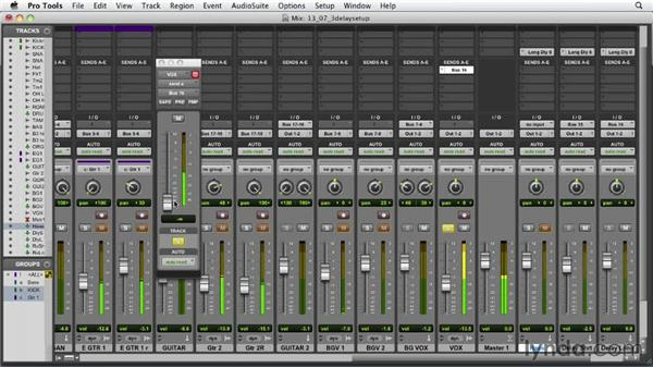 Using the three-delay setup: Audio Mixing Bootcamp