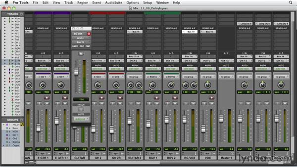 Using delay to layer the mix: Audio Mixing Bootcamp