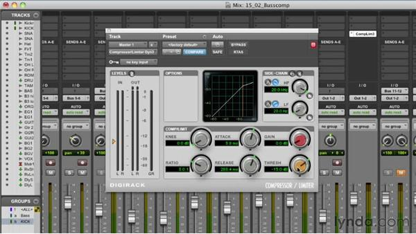 Using mix buss compression: Audio Mixing Bootcamp