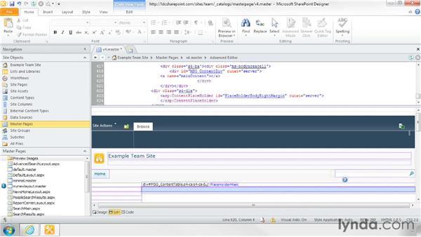 Restoring the default master page: SharePoint Designer 2010: Branding SharePoint Sites