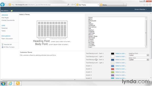 Custom themes in Foundation sites: SharePoint Designer 2010: Branding SharePoint Sites