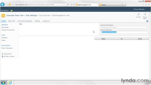 Customizing the Quick Launch and Top Link bars: SharePoint Designer 2010: Branding SharePoint Sites