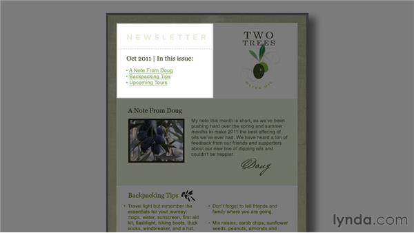 Creating a layout: Email Marketing Basics