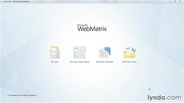 Hello world: Creating a web site: Up and Running with WebMatrix and ASP.NET