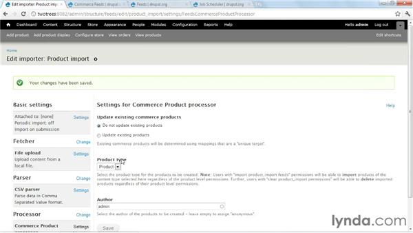 Importing simple products: Create Your First Online Store with Drupal Commerce