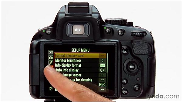 Setting the language: Shooting with the Nikon D5100