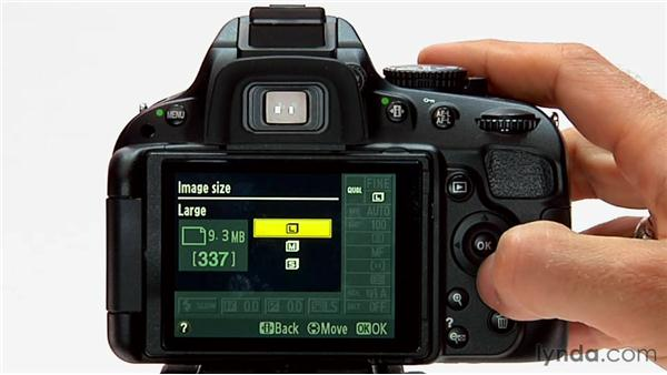 Image format and size: Shooting with the Nikon D5100