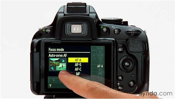 Focus modes: Shooting with the Nikon D5100