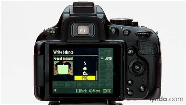 White balance presets: Shooting with the Nikon D5100