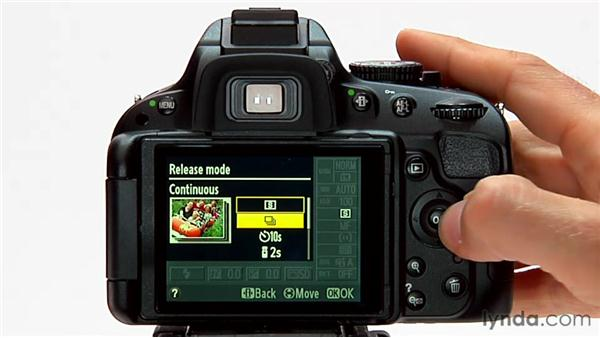 Continuous mode: Shooting with the Nikon D5100