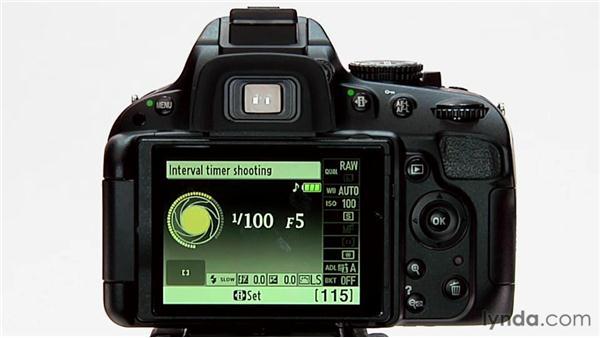 Interval timer shooting: Shooting with the Nikon D5100