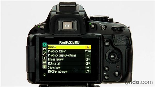 Protecting and deleting images: Shooting with the Nikon D5100