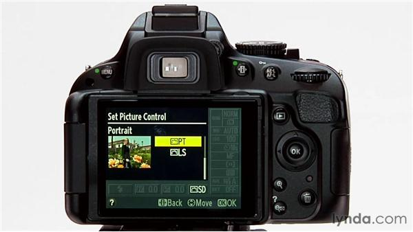 Selecting a picture control: Shooting with the Nikon D5100