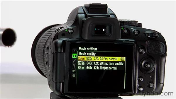Configuring and activating video: Shooting with the Nikon D5100