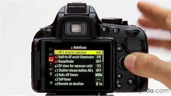 AF-C priority selection: Shooting with the Nikon D5100