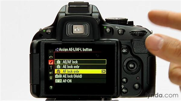 Assign AE-L/AF-L button: Shooting with the Nikon D5100