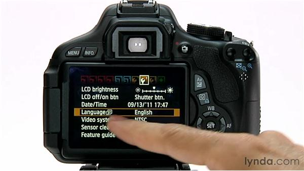Setting the language: Shooting with the Canon Rebel T3i (600D and Kiss X5)