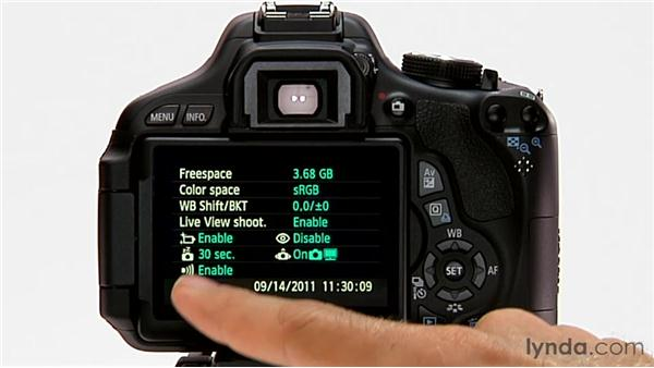 The Info button: Shooting with the Canon Rebel T3i (600D and Kiss X5)