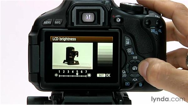 LCD brightness: Shooting with the Canon Rebel T3i (600D and Kiss X5)