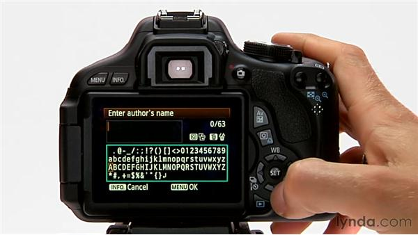Copyright information: Shooting with the Canon Rebel T3i (600D and Kiss X5)