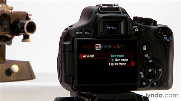 Focusing in Live view: Shooting with the Canon Rebel T3i (600D and Kiss X5)