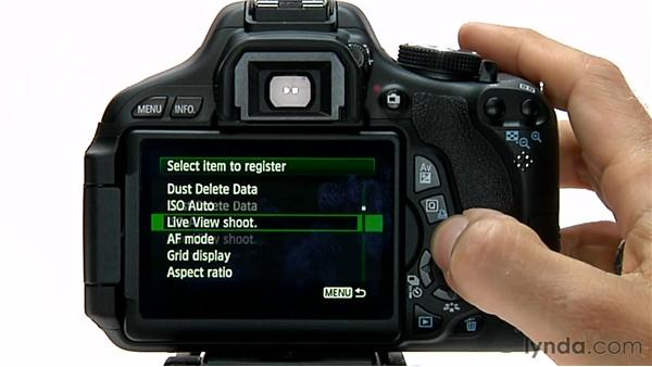 Custom menus: Shooting with the Canon Rebel T3i (600D and Kiss X5)