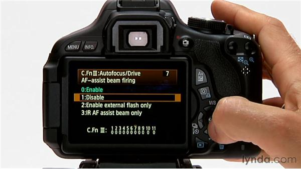 AF-assist beam firing: Shooting with the Canon Rebel T3i (600D and Kiss X5)