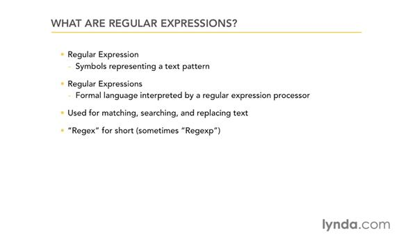 What are regular expressions?: Using Regular Expressions