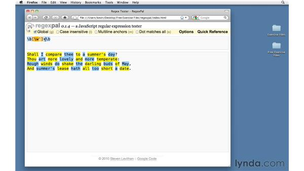 : Using Regular Expressions