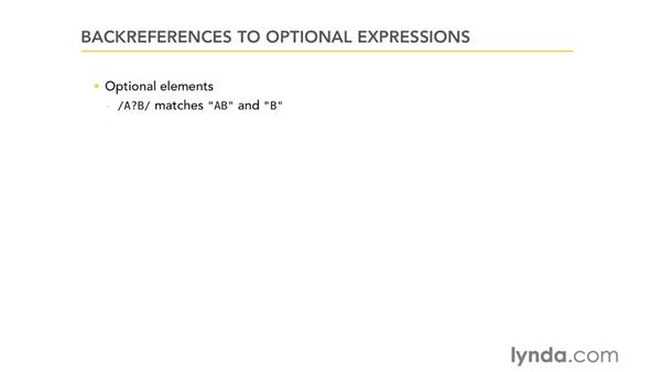 Backreferences to optional expressions: Using Regular Expressions