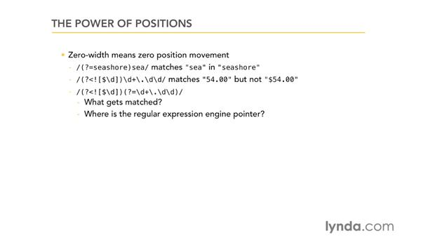 The power of positions: Using Regular Expressions