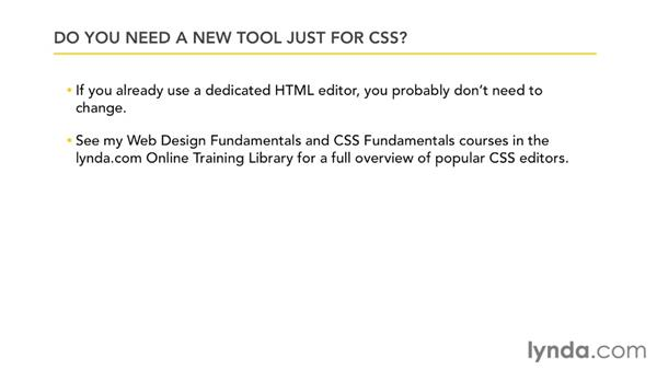 CSS authoring tools: CSS: Core Concepts