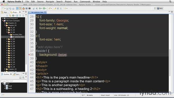 ID selectors: CSS: Core Concepts