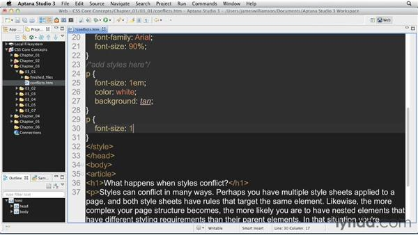What happens when styles conflict?: CSS: Core Concepts