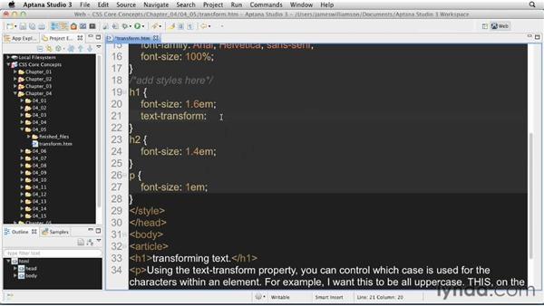 : CSS: Core Concepts