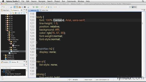 Basic text formatting: Solution: CSS: Core Concepts
