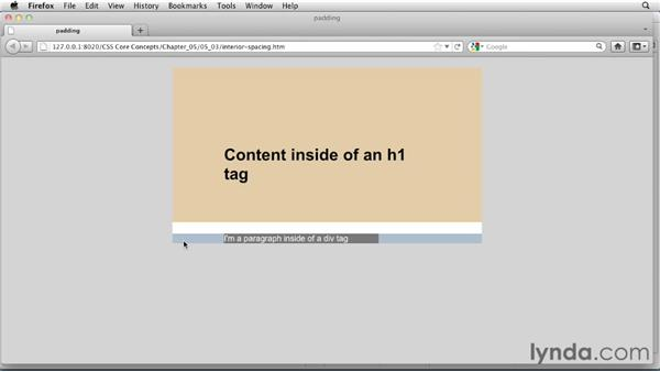 Controlling interior spacing: CSS: Core Concepts