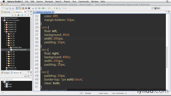 Defining element size: CSS: Core Concepts