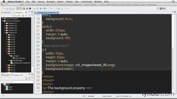 Using background images: CSS: Core Concepts