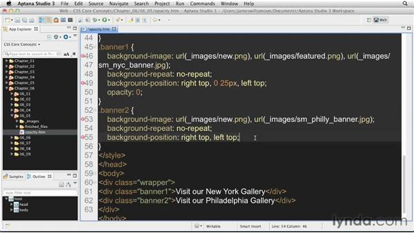 Working with opacity: CSS: Core Concepts