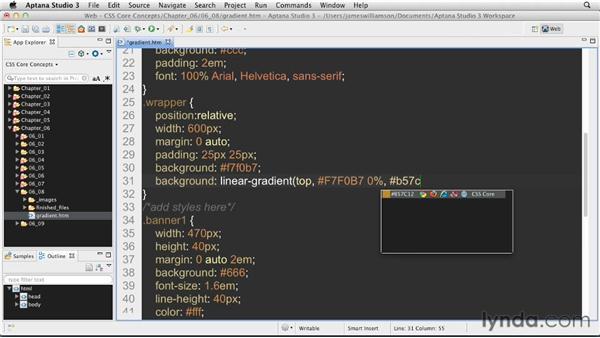 CSS gradients: CSS: Core Concepts