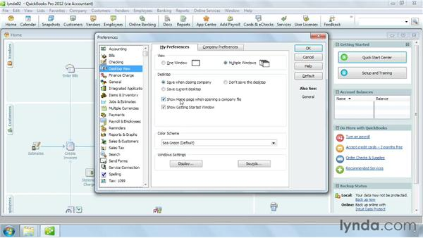 Setting essential preferences: QuickBooks Pro 2012 Essential Training