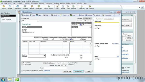 Working with prepayments: QuickBooks Pro 2012 Essential Training