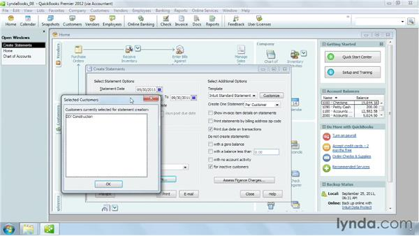 Producing statements: QuickBooks Pro 2012 Essential Training
