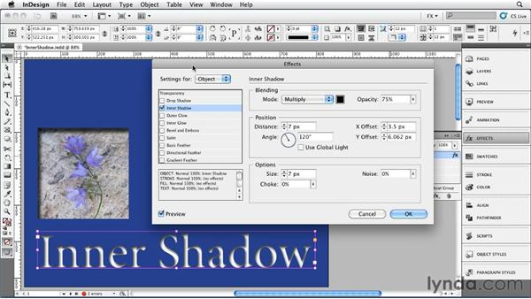 017 Exploring Inner Shadow Settings: InDesign FX