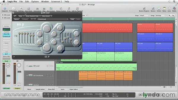 Getting started with the ES P: Virtual Instruments in Logic Pro