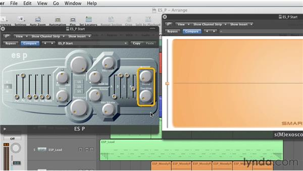 Understanding the signal flow of the ES P: Virtual Instruments in Logic Pro