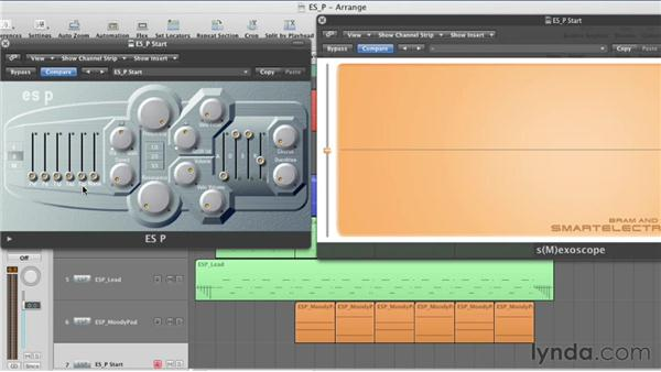 Balancing the oscillator levels: Virtual Instruments in Logic Pro