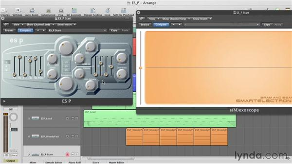 Modulating the cutoff with the ADSR: Virtual Instruments in Logic Pro